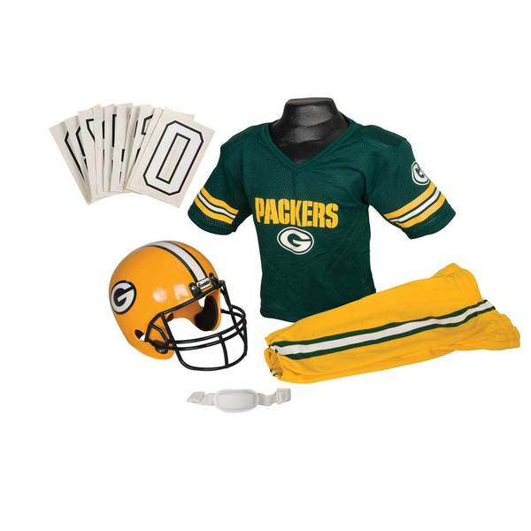 Franklin Sports NFL Green Bay Packers Youth Uniform Set