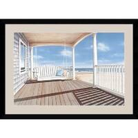 Framed Art Print 'The Porch Swing' by Daniel Pollera 43 x 32-inch
