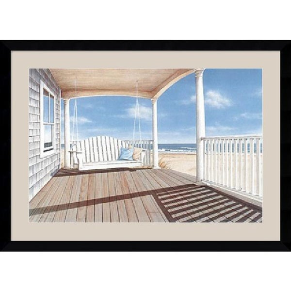Framed Art Print 'The Porch Swing' by Daniel Pollera 43 x 32-inch