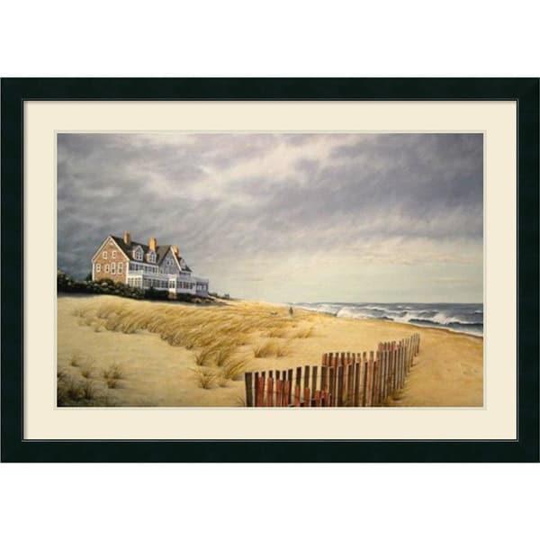 Framed art print 39 beach house 39 by daniel pollera 43 x 31 for Beach house prints