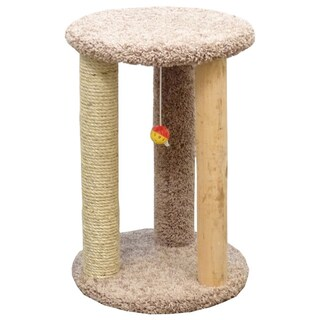 New Cat Condos Round Multi-scratcher with Sisal Rope