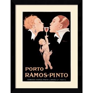 Rene Vincent 'Porto Ramos-Pinto' 25 x 32-inch Framed Art Print
