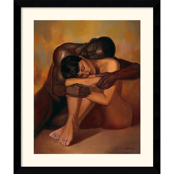 Framed Art Print 'Tenderness' by Sterling Brown 33 x 39-inch