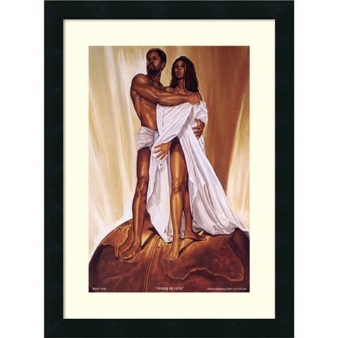 Framed Art Print 'Power of Love' by Wak - Kevin A. Williams 18 x 24-inch
