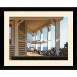 Daniel Pollera 'Seaside Hammock' Framed Art Print