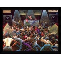 Framed Art Print 'Jump Off' by Frank Morrison 38 x 29-inch