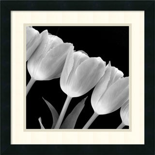 Framed Art Print 'Tulip Line' 18 x 18-inch