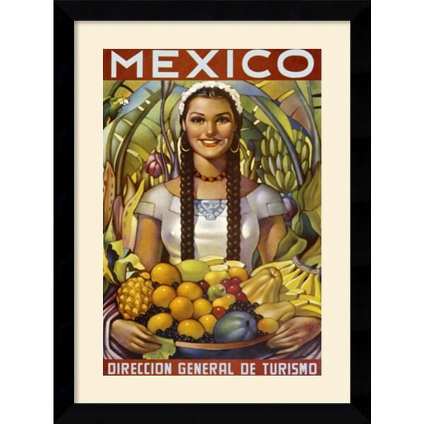 'Senorita with Fruit' Framed Art Print