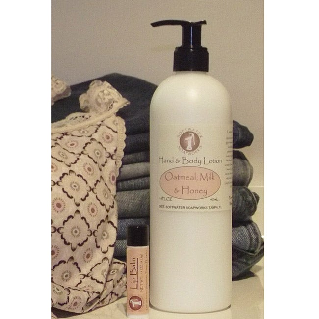 Softwater Soapworks Oatmeal, Milk and Honey Hand and Body Lotion