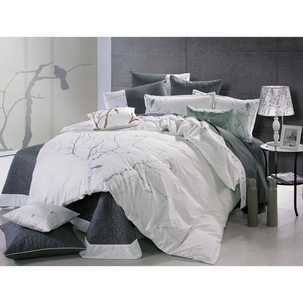 Bird Call Embroidered Full-size 3-piece Comforter Set