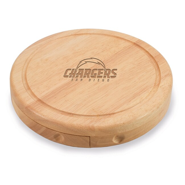Picnic Time San Diego Chargers Brie Cheese Board Set