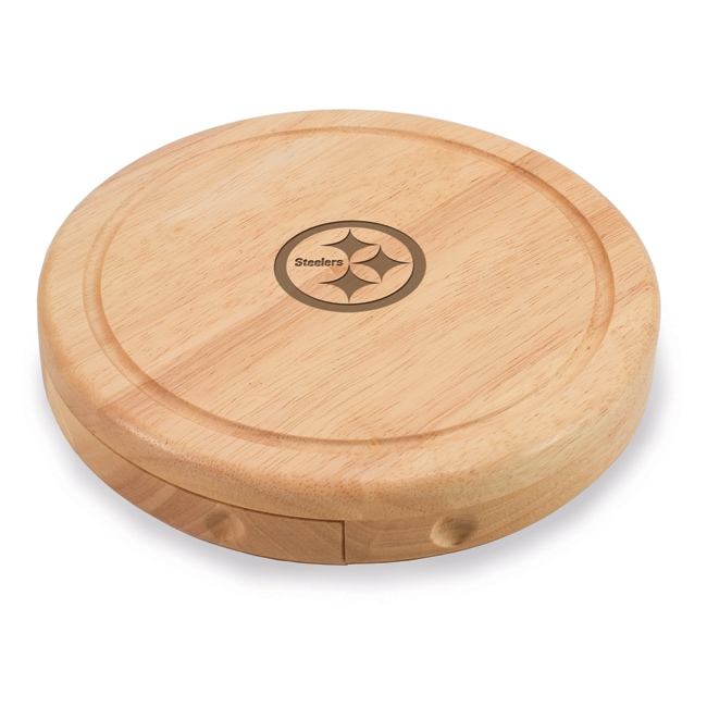 Picnic Time Pittsburgh Steelers Brie Cheese Board Set - Brown