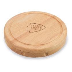 Picnic Time Kansas City Chiefs Brie Cheese Board Set - Brown - Thumbnail 0