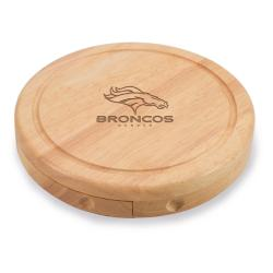 Picnic Time Denver Broncos Brie Cheese Board Set