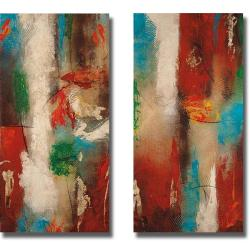 Nancy Santos 'Cubone I and II' 2-piece Canvas Art Set - Multicolor - Thumbnail 0