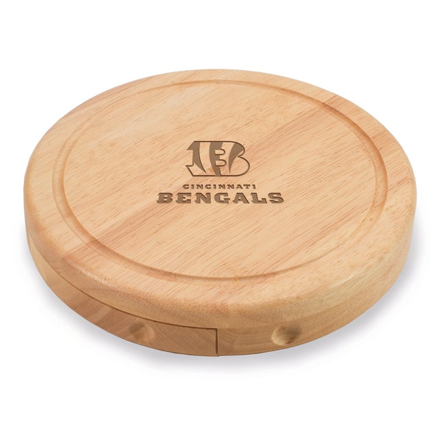 Picnic Time Cincinnati Bengals Brie Cheese Board Set - Brown
