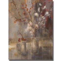 Simon Addyman 'Silver Floral' Canvas Art