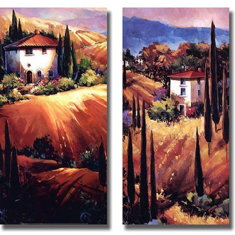 Nancy O'Toole 'Golden Tuscany and Hills of Tuscany' 2-piece Canvas Art Set