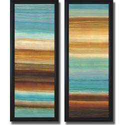 Jeni Lee 'Illumine I and II' Framed 2-piece Canvas Art Set