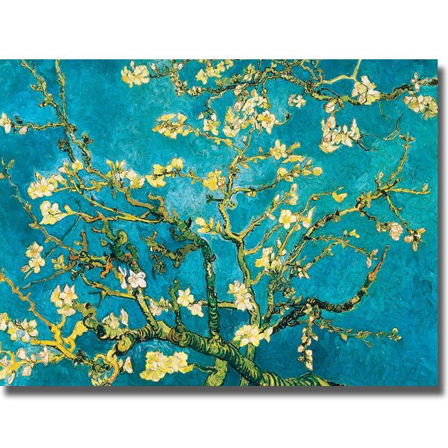 Vincent Van Gogh 'Mandorlo in Fiore' Canvas Art - Thumbnail 0