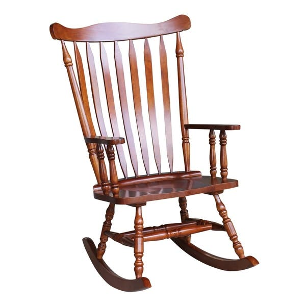 Fabulous Shop Colonial Cherry Finish Rocking Chair 28W X 36D X Gmtry Best Dining Table And Chair Ideas Images Gmtryco
