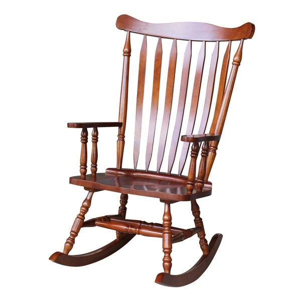 Bon Colonial Cherry Finish Rocking Chair