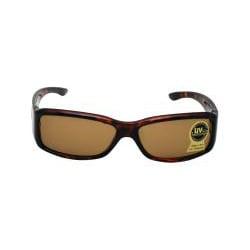 Unisex Noir Brown Fashion Sunglasses with Glass Lenses - Thumbnail 1