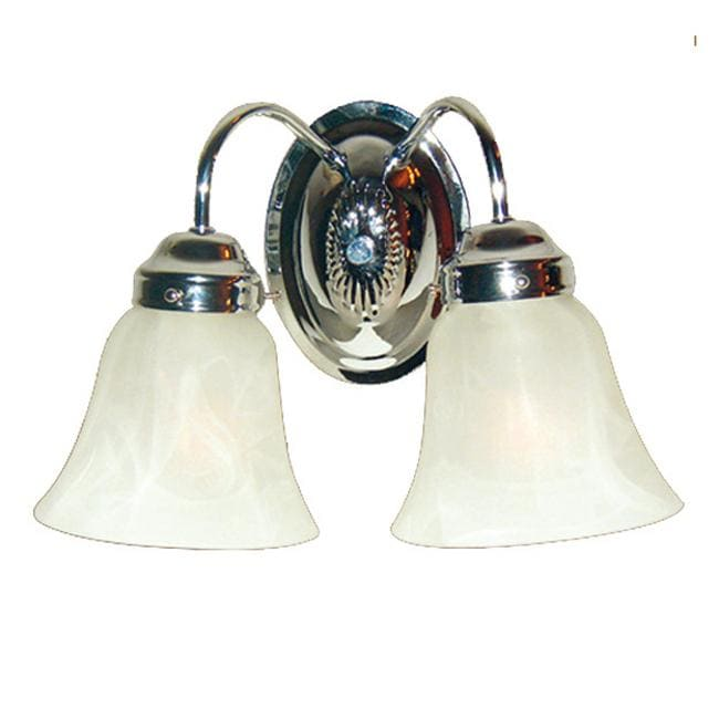 Woodbridge Lighting Ridgemont 2-light Chrome Bath Sconce - Thumbnail 0