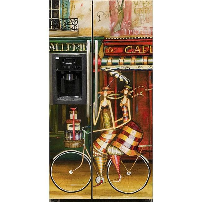 Appliance Art 'Girlfriends in Paris' Refrigerator Cover