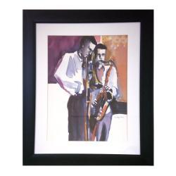 Jeeyun Lee 'Tru Duo' Modern Framed Art