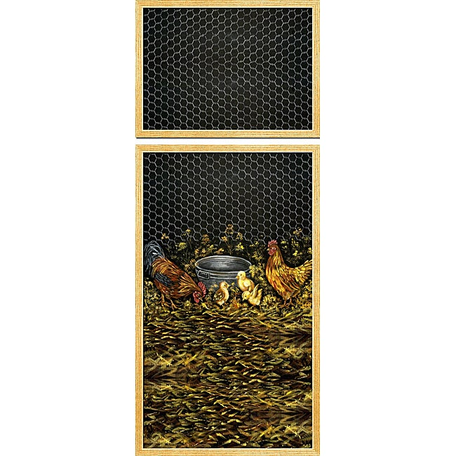 Appliance Art 'Rooster and Family' Refrigerator Cover (Top/ Bottom)