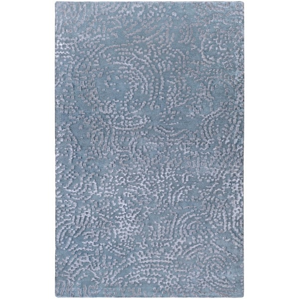 Hand-knotted Cary Abstract Design Wool Area Rug - 8' X 11'