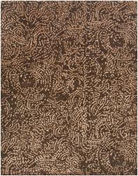 Hand-knotted Contemporary Brown/Tan Fullerton Semi-Worsted New Zealand Wool Abstract Rug