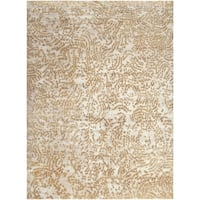 Hand-knotted Annapolis Abstract Design Wool Area Rug - 8' x 11'