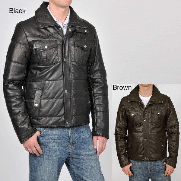 Knoles & Carter Men's Quilted Leather Jacket