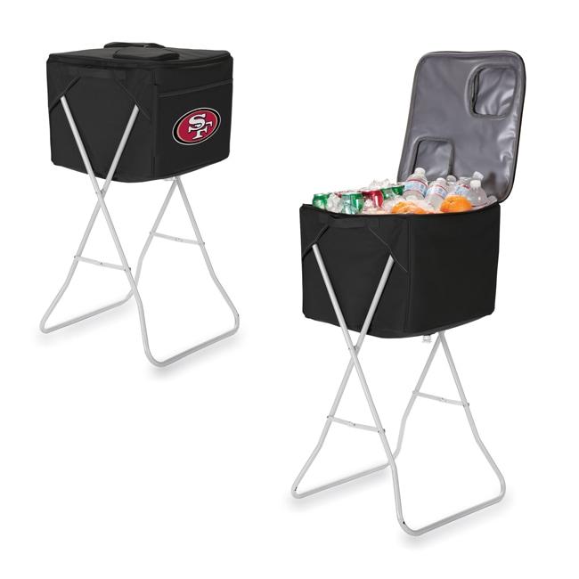 Picnic Time San Francisco 49ers Black Party Cube
