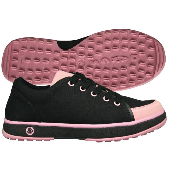 Dawgs Golf Women's Crossover Black/ Pink Golf Shoes