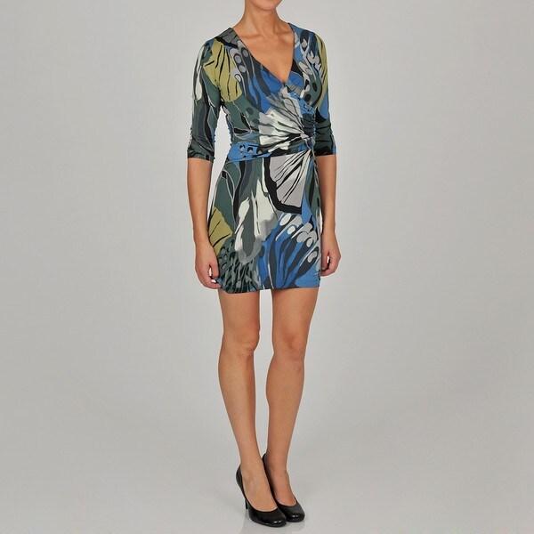L.A. Gold Women's 3/4-sleeve Wrap Dress