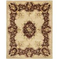 Safavieh Handmade French Bouquet Ivory/ Rust Hand-spun Wool Rug (8' x 10')