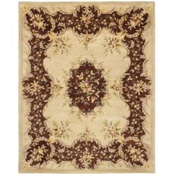 Safavieh Handmade Ivory/ Rust Hand-spun Wool Rug - 9'6 x 13'6 - Thumbnail 0