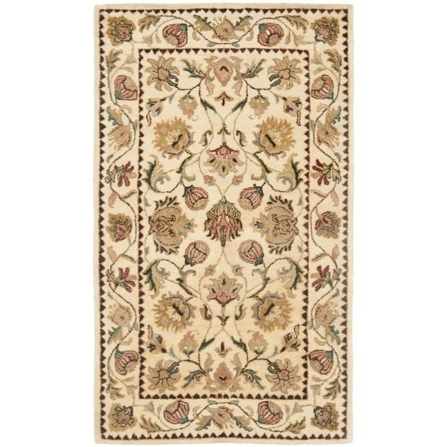 Safavieh Handmade Eden Ivory Hand-spun Wool Rug (3' x 5')
