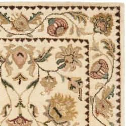 Safavieh Handmade Eden Ivory Hand-spun Wool Rug (3' x 5') - Thumbnail 1