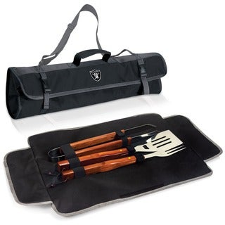 Picnic Time Oakland Raiders 3-piece BBQ Tote