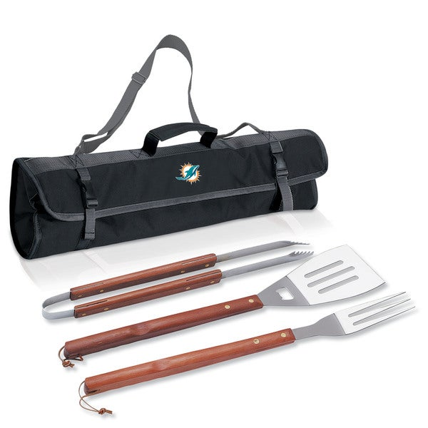 Picnic Time Miami Dolphins 3-piece BBQ Tote