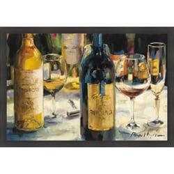 Marilyn Hageman 'Bordeaux and Muscat' Framed Print Art