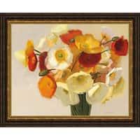 Shirley Novak 'November Poppies' Framed Print Art