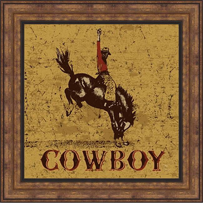 Shop Peter Horjus  Rodeo Cowboy  Framed Print Art - On Sale - Free Shipping  Today - Overstock.com - 6194013 d7fe31ef09fb