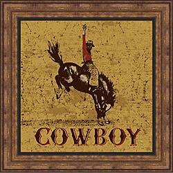 Peter Horjus 'Rodeo Cowboy' Framed Print Art