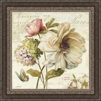 Lisa Audit 'Marche de Fleurs II ' Framed Print Art - Green