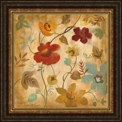 Silvia Vassileva 'Antique Embroidery II ' Framed Print Art